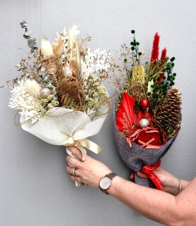 Dried Flower Christmas Posy